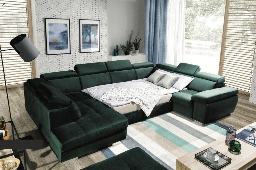 U-sofa med en sovende funksjon