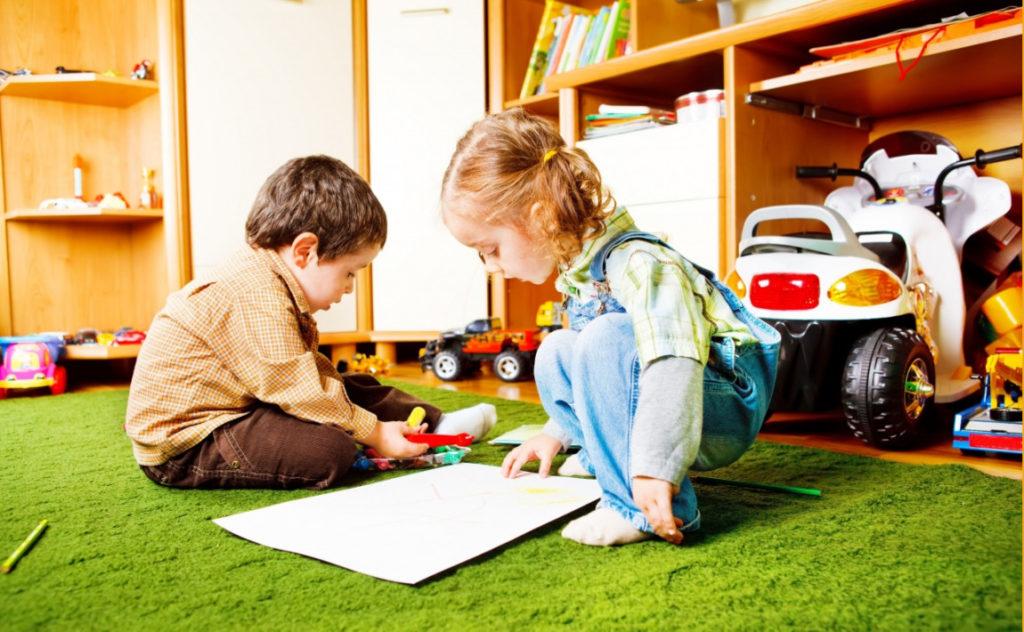Skandinavisk køyeseng til barn