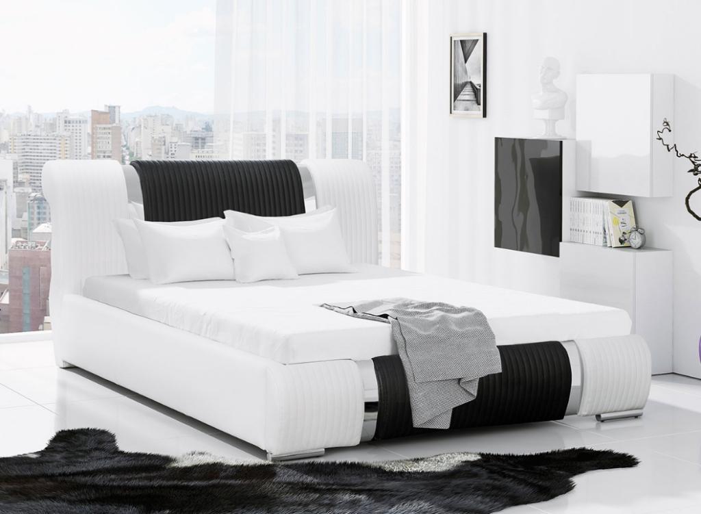 hvit seng til soverom