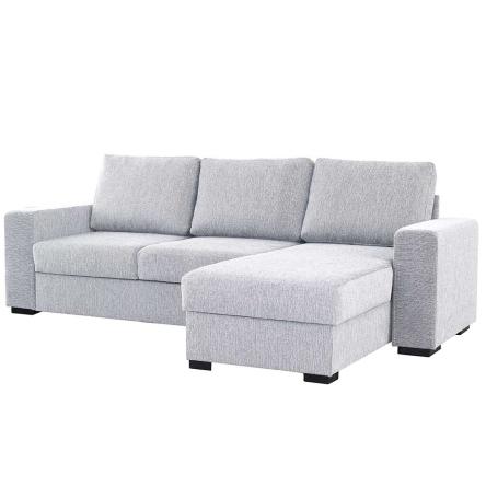 grå hjornesofa for stue