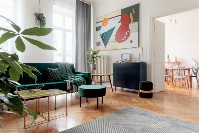 vakker retro salong i forskjellige farger
