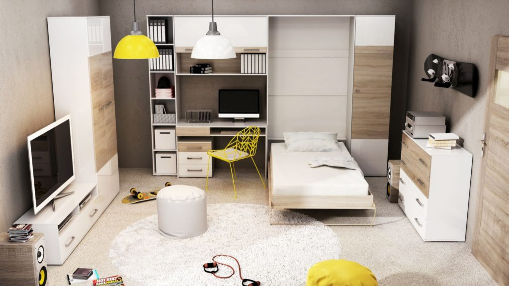 moderne rom og skapseng